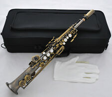 Professional Antique Brass Eb Sopranino saxophone sax low Bb to high E With Case