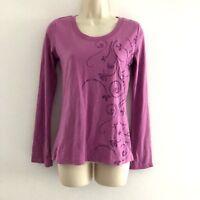 Balance Collection women's small tee top yoga tee long sleeve pink new