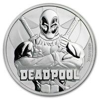 2018 Tuvalu Marvel Series Deadpool 1 oz .9999 Silver Round BU Capsuled Coin