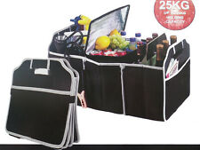 3 In 1 Car Boot Organiser Foldable Shopping Tidy Cool Thermo Bag With Pockets
