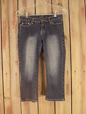 POCA Jeans Capris Blue Cropped Stretch Women's Size 3