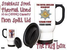 The Royal Anglian Regiment  Personalised Thermal Travel Mug.(MT036)