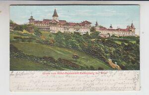 1905 Gruss vom Hotel-Restaurant Kahlenberg bei Wien (Wien XIX) Reliefkarte
