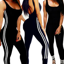 Womens Workout Leggings Pants Sports Fitness Yoga Gym Jumpsuit Athletic Clothes
