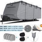 6-Ply Anti-UV Waterproof Travel Trailer Camper RV Cover Storage 26-34 Trailer