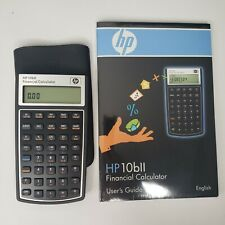 HP 10bII Financial Calculator 10 BII with case new batteries free shipping