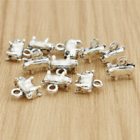 3D Pig Alloy Pendant Necklace DIY Jewelry Necklace Climbing Silver Charms 10pcs