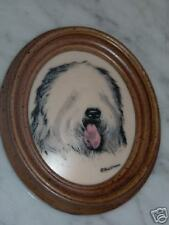 Earl Sherwan Old English Sheepdog Wall Plaque