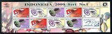 Indonesia 1708a MNH Gemstones:  Geode, Chrysocolla, Picture Jasper 1997 x12934
