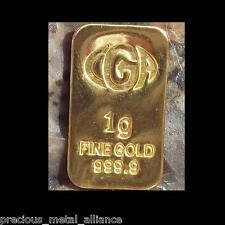 1 Gr G Gram 9999 24K GOLD Premium CGA Bullion Bar Ingot
