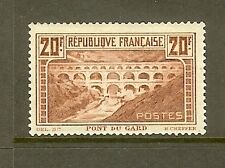 """FRANCE STAMP TIMBRE N° 262Aa """"PONT DU GARD 20F CHAUDRON TYPE I"""" NEUF xx TB SIGNE"""
