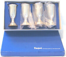 """4 Whiting Gorham Sterling Silver Cups Marked Original Box 23g ea 3.5"""" Tall"""