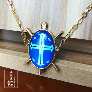 Hunter x Hunter Paladin's Necklace Key Holder Ring Blue Red Pendant Cosplay Gift