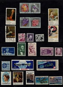 USA Postage Stamps Used Selection Sets Singles Good Condition Clean Lot (24v)