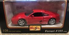1:24 Maisto 1994 Ferrari F355 GTB Coupe red
