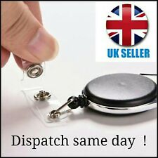 Retractable Reel ID Badge Lanyard Name Tag Key Card Holder Belt Clip New HQ