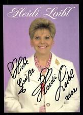 Heidi Loibl Autogrammkarte Original Signiert ## BC 42721