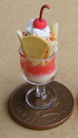1:12 Scale Strawberry Ice Cream Sundae Doll House Miniature Kitchen Accessory I5