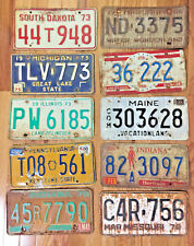 10 Pack of Rustic/worn License Plates From at Least 7 Different States