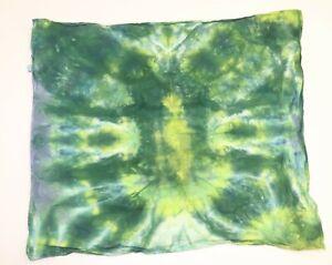 """Tie Dye Bandana 21"""" x 21"""" Green Cell Smash 100% cotton"""