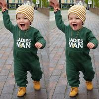 Newborn Baby Kids Boys Girls Infant Romper Jumpsuit Bodysuit Cotton Outfit Set