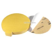 "50Pc 6"" 320 Grit DA Gold A/O PSA Stick On Sandpaper Sanding Disc Made in USA"
