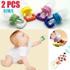 2X Baby Frucht Schnuller BPA-frei Silikon Lustiger Fruchtsauger Für 0-15 Monate