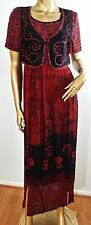 Carole Little Sz 6 western design red black artsy maxi dress bolero