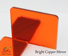 Bright Copper Mirror Acrylic 3mm with a Plain Back or Adhesive Back 100mm-600mm