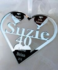 40TH  BIRTHDAY GIFT PERSONALISED WITH NAME ,SUZIE , BIRTH DATE, KEEPSAKE