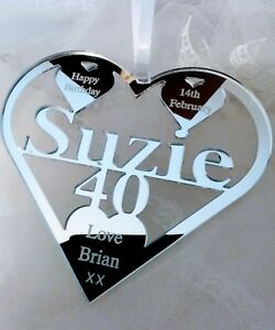 40TH  BIRTHDAY GIFT PERSONALISED WITH NAME ,SUZIE , BIRTH DATE, KEEPSAKE