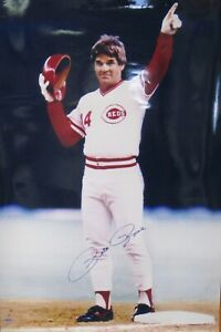Pete Rose Signed Autographed 30x40 Photo Cincinnati Reds Tristar 7056307