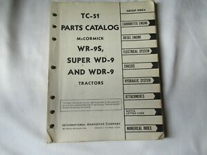 IH International McCormick WR-9 WD-9 WDR-9 tractor parts catalog manual book