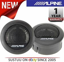 "100% Genuine ALPINE SXE 1006TW 1""3cm auto & VAN Dome Tweeter Altoparlante 280 WATT NUOVO"