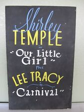 Original Shirley Temple Hand Painted Theater Movie Poster Lee Tracy Carnival