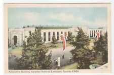 Automotive Building Canadian National Exhibition Toronto Canada postcard