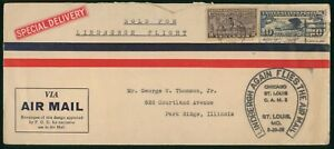 Mayfairstamps US 1928 Spec Delivery Air Mail Lindenbergh Again Flies Cover wwo_7