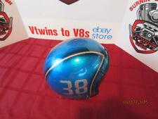 Vintage Custom Painted Helmet Feauturing Blue Flake, Silver Flake & Fade