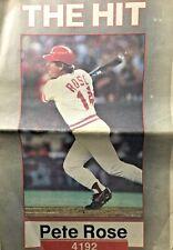 Vintage Complete Cincinnati Post 12 Sep 1985 Pete Rose Record 4192 Hits