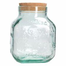 Cookie Keksdose aus recyeltem Glas 3,1L großes Vorratsglas Keksglas Gebäckdose