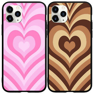 Latte Love Coffee Pink Heart Phone Case for iphone 11 12 Pro Max XS XR 6 7 8Plus