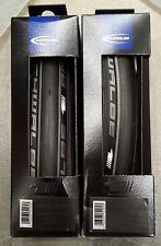new pair of Schwalbe One folding 700x23 road bike clincher tires silver bicycle