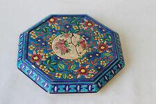 Dessous de plat Emaux de Longwy hexagonale décor floral