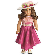 "American Girl REBECCA MOVIE DRESS  for 18"" Dolls Rose Hat Outfit Rebecca's NEW"