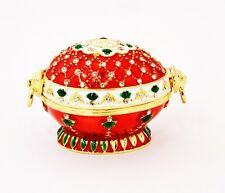 Ciel Collectables Egg Trinket Box. Hand Made with Swarovski Crystals & Enamel