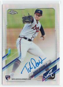 Tucker Davidson Braves 2021 Topps Chrome Rookie Autograph Refractor 133/499
