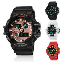 SANDA Men's Military Digital LED Alarm Week Analog Quartz Sport Watch Waterproof
