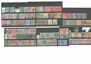 V078 Straits Settlements QV - GVI collection M&U on 6cards