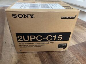 """Sony 2UPC-C15 5x7"""" printing pack for SnapLab DNP dye sublimation printers. New"""
