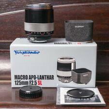 Voigtlander 125mm f2.5 Macro SL APO-Lanthar Lens Nikon F + Leica M
